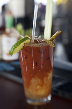 The divine Bloody Mary at Mt. Bachelor's Sun Bar.