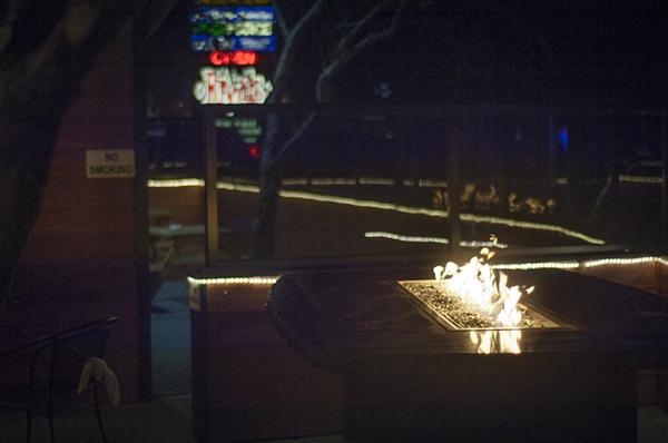 Gotta love the cool outdoor fire bar!