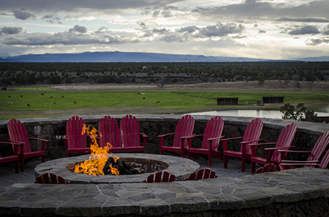 Gorgeous views and a cozy fire. What more could you want?