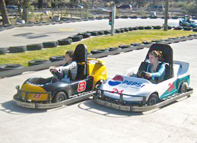 Fun on the Go-Karts at Sun Mountain Fun Center.
