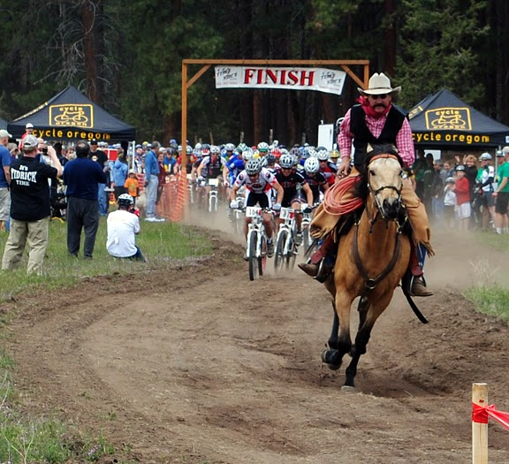 Only at the Sisters Stampede do horses and mountain bikes ride side by side.