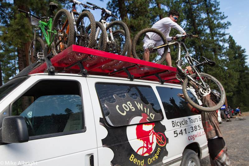 You can let someone else do all the heavy lifting when you head out with Cog Wild for a mountain bike adventure.