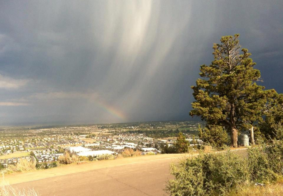 Watching a thunderstorm come in from atop Pilot Butte a couple weeks ago.