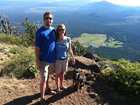 Hiking Black Butte with my better half last summer.