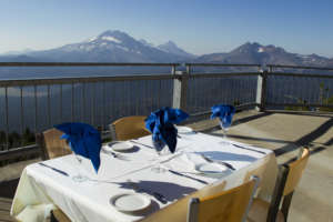 Commemorate a special occasion by having dinner at 7,775 feet at Mt. Bachelor's Pine Marten Lodge.