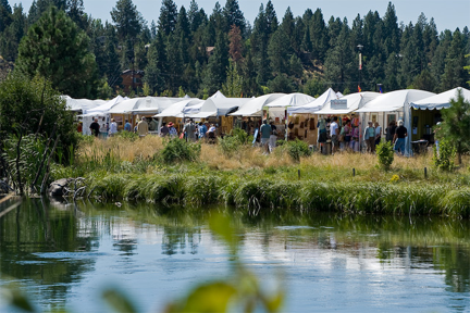 Art in the High Desert takes place on the bank of the Deschutes River near the Old Mill District.