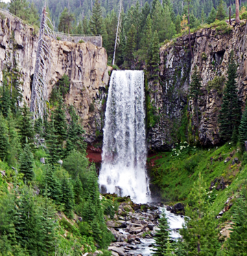 Tumalo Falls, one of many scenic spots you can explore with tips from Cascade Hiking Adventures.