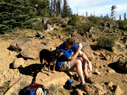 A perfect picnic atop Black Butte last fall.