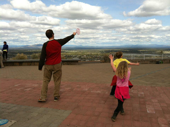 A hike up Pilot Butte (complete with bubbles for the kids to chase) is a great way to get some healthy family time.