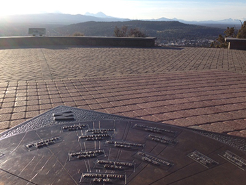 Learn the names of all the mountains from the handy guide atop Pilot Butte.