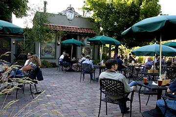 The outdoor patio at McMenamins is one of many spots you'll enjoy along the Bend Ale Trail even if you don't like beer at all.