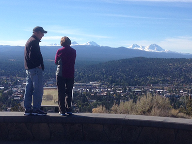 The views atop Pilot Butte are well worth it whether you hike, bike, drive, or crawl to the summit.