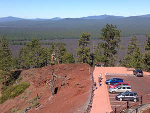The view from atop Lava Butte.