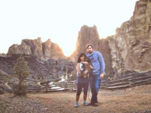 Geof and Becky got engaged at Smith Rock last spring.