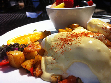 Scrumptious Eggs Benedict at McKay Cottage in Bend, Oregon
