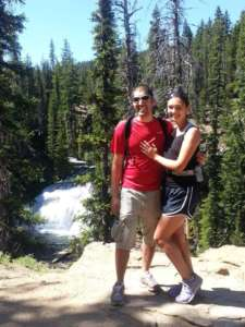 Misty and Novin get engaged at Tumalo Falls.