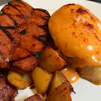 Linguiça and chipotle hollandaise add a little zing to your breakfast at Café Sintra.