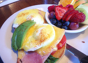 Scrumptious eggs benedict at The Vic. Add a little avocado and tomato if you feel like being healthy.