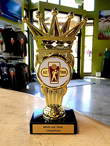 Behold, the trophy you'll get for bringing a newly-completed passport to the Bend Visitor Center during Bend Ale Trail month.