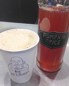 The pumpkin spice syrup at Bellataza is made in Bend by the same guy who makes their chai.