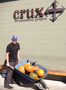 Gotta love the beer & pumpkin combo at Crux!