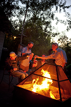 The fire pits at McMenamins (as well as the ones at Crux and 10 Barrel) are a great way to extend your outdoor dining season.