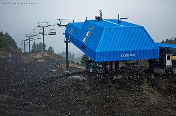 Photographer Pete Alport recently captured the first snowfall of the 2014-2015 ski season up at Mt. Bachelor.