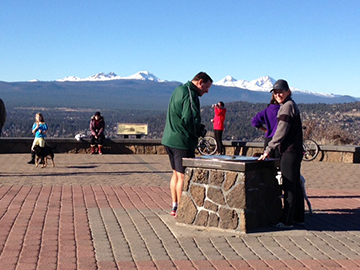 It's fine if you choose to drive, rather than walk to the top of Pilot Butte. You can still enjoy the views!