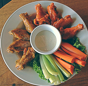 Angel fire and Buffalo wings from Summit – the best of both wing worlds!