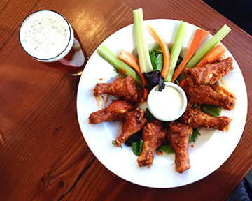 Make sure you order an Imperial IPA to pair with your wings at Worthy Brewing.