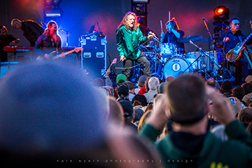 Rockin' hard with Robert Plant at the Les Schwab Amphitheater earlier this year.