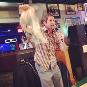 Blogger Tawna's husband, Craig, was NOT drinking like a moron while doing karaoke in Bend, but his spouse who threw the bra at him may have been.