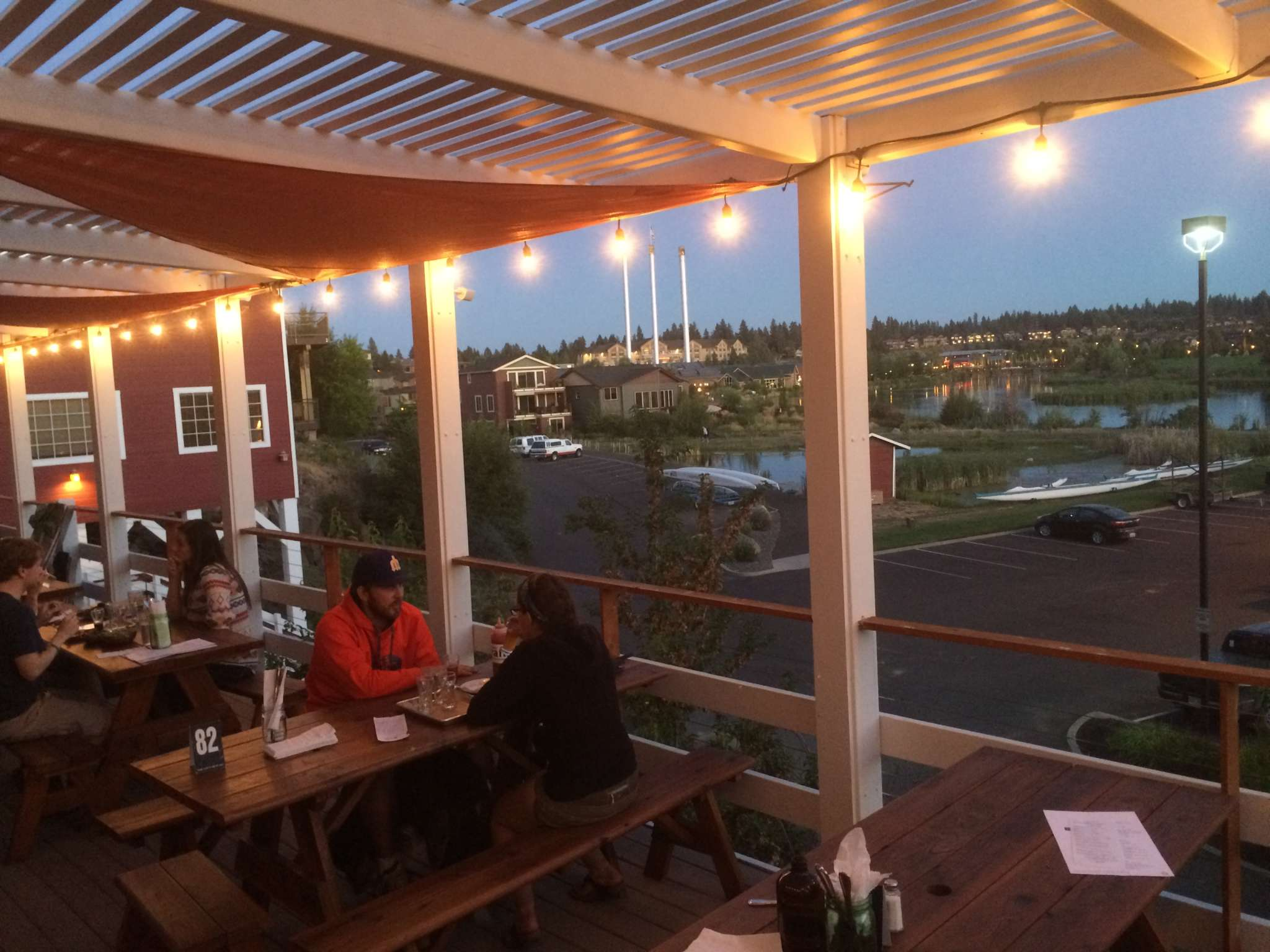 Craft Kitchen and Brewery is a fab spot to watch the sunset sparkling on the Deschutes River.