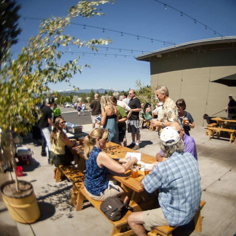 September's a great time of year to nab that coveted outdoor table at popular breweries like Crux Fermentation Project.