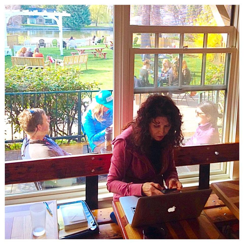 Soak up sunshine and river views whether you're inside or outside at Looney Bean.