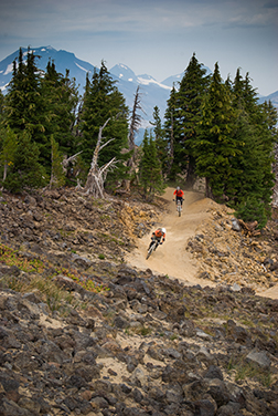 Churn up some dust in the Downhill Bike Park at Mt. Bachelor.