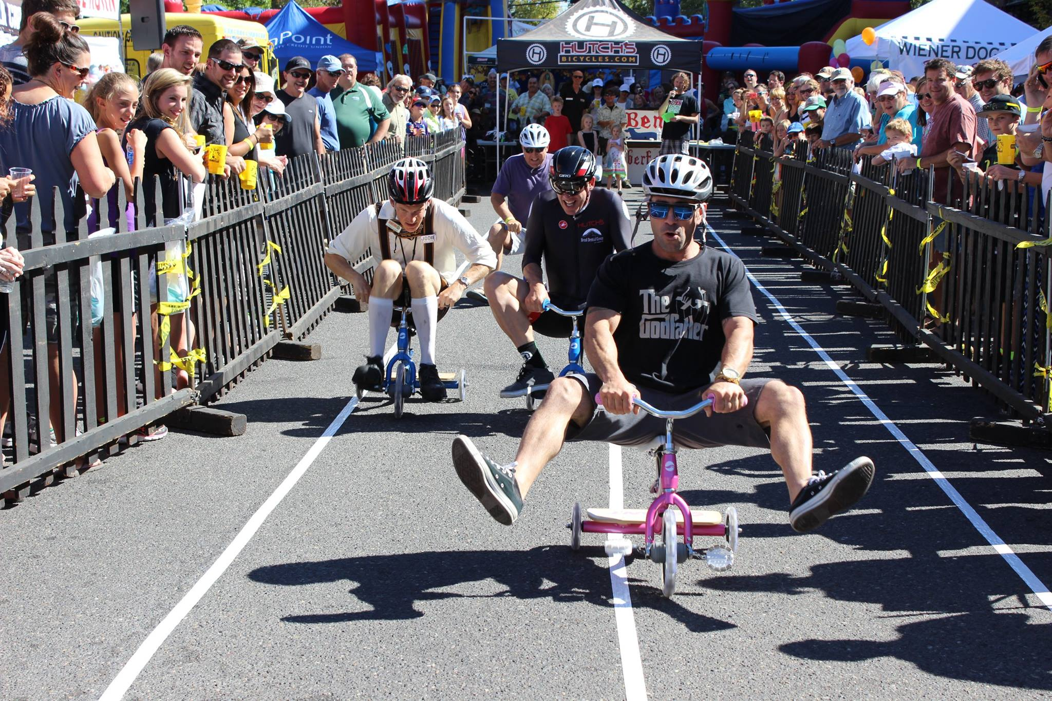 One of many fun scenes you'll likely witness at Oktoberfest in Downtown Bend.