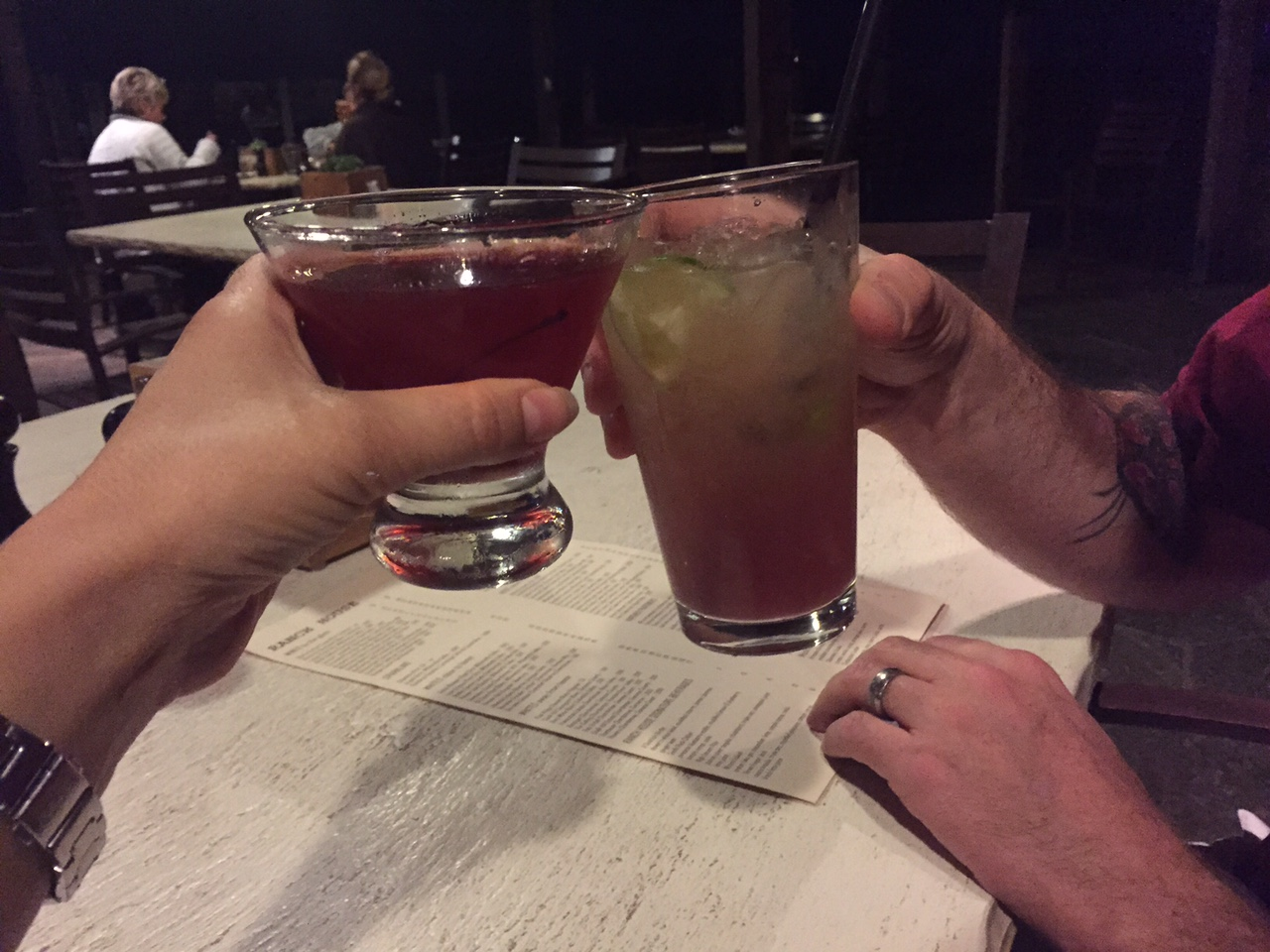 Cheers to our romantic weekend!