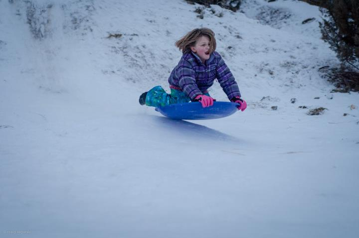 Blogger Tawna's stepdaughter, Violet (now 10) on a snow day a few years ago.