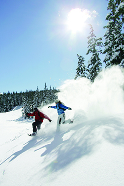 Snowshoeing is one of dozens of ways to play in the snow in Bend.