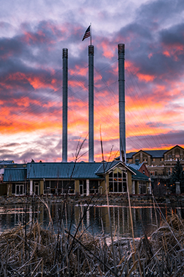 Sunrise in the Old Mill District (or anywhere else in Bend) is worth getting up a bit earlier during your Bend vacation.