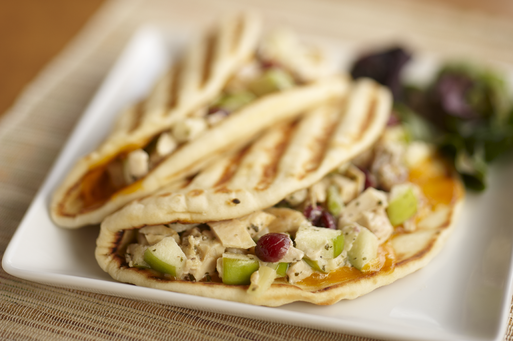 "Mmmm....the Granny Smith Chicken Salad Flatini from Croutons will make your belly say ""thank you!"""