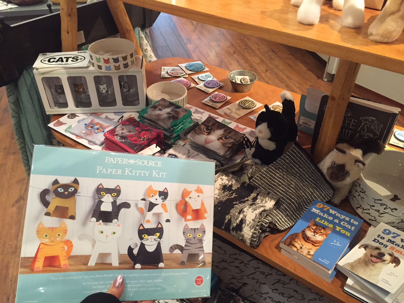 Downtown Bend merchants like Clementine Urban Mercantile have oodles of kitty-themed merchandise waiting for you.