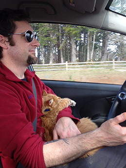 Matt the Cat, Tawna's road trippin' cat.