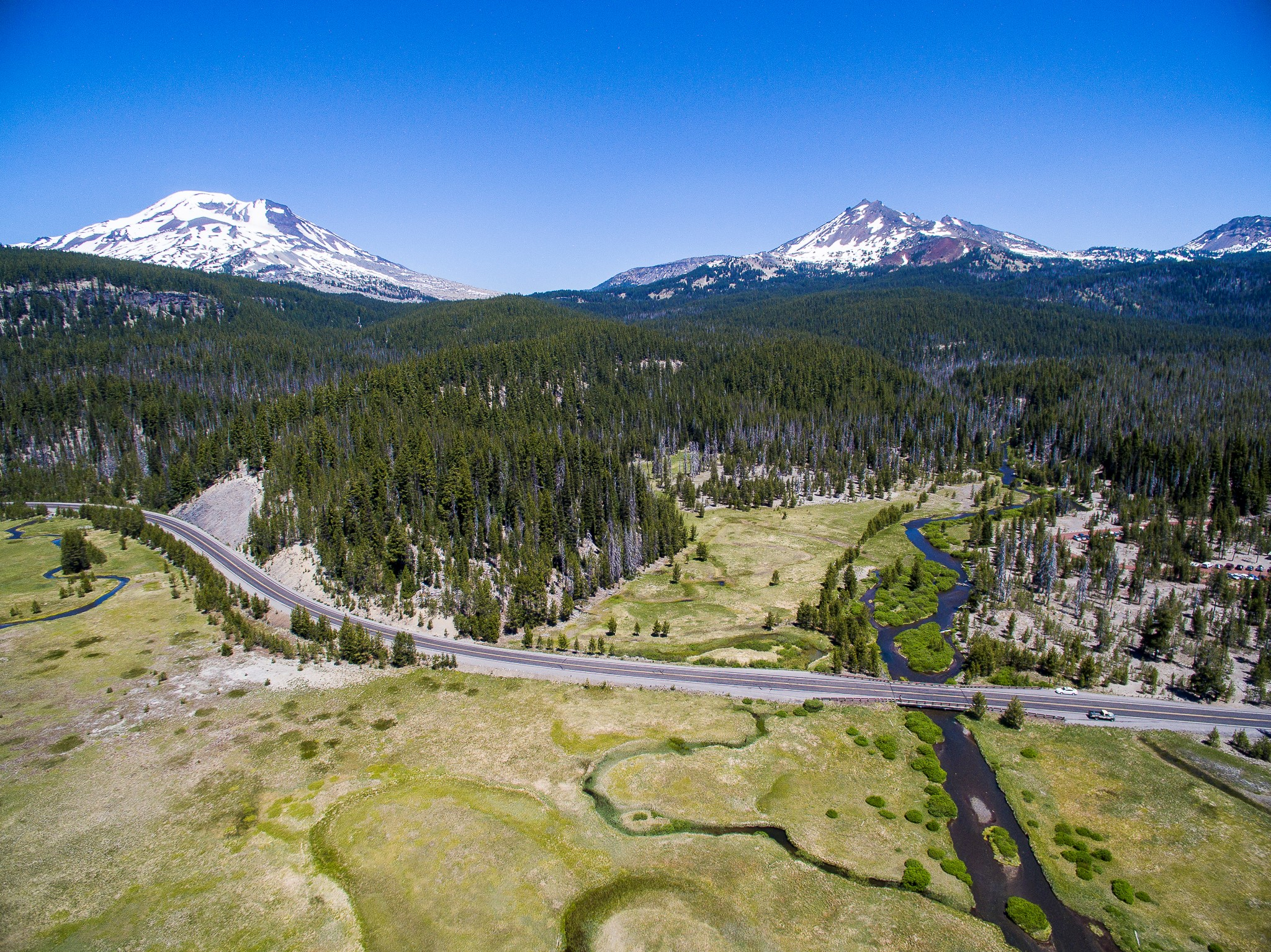The Cascade Lakes Scenic Byway opened earlier this week.
