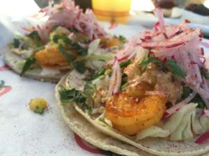"Okay, so shrimp isn't ""technically"" a fish. You'll still love these tacos at A La Carte!"