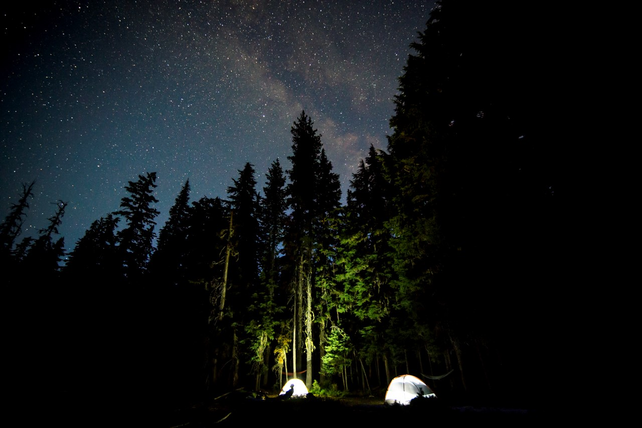 Camping is a great way to see stars around Central Oregon. Photo by Nate Wyeth Photography