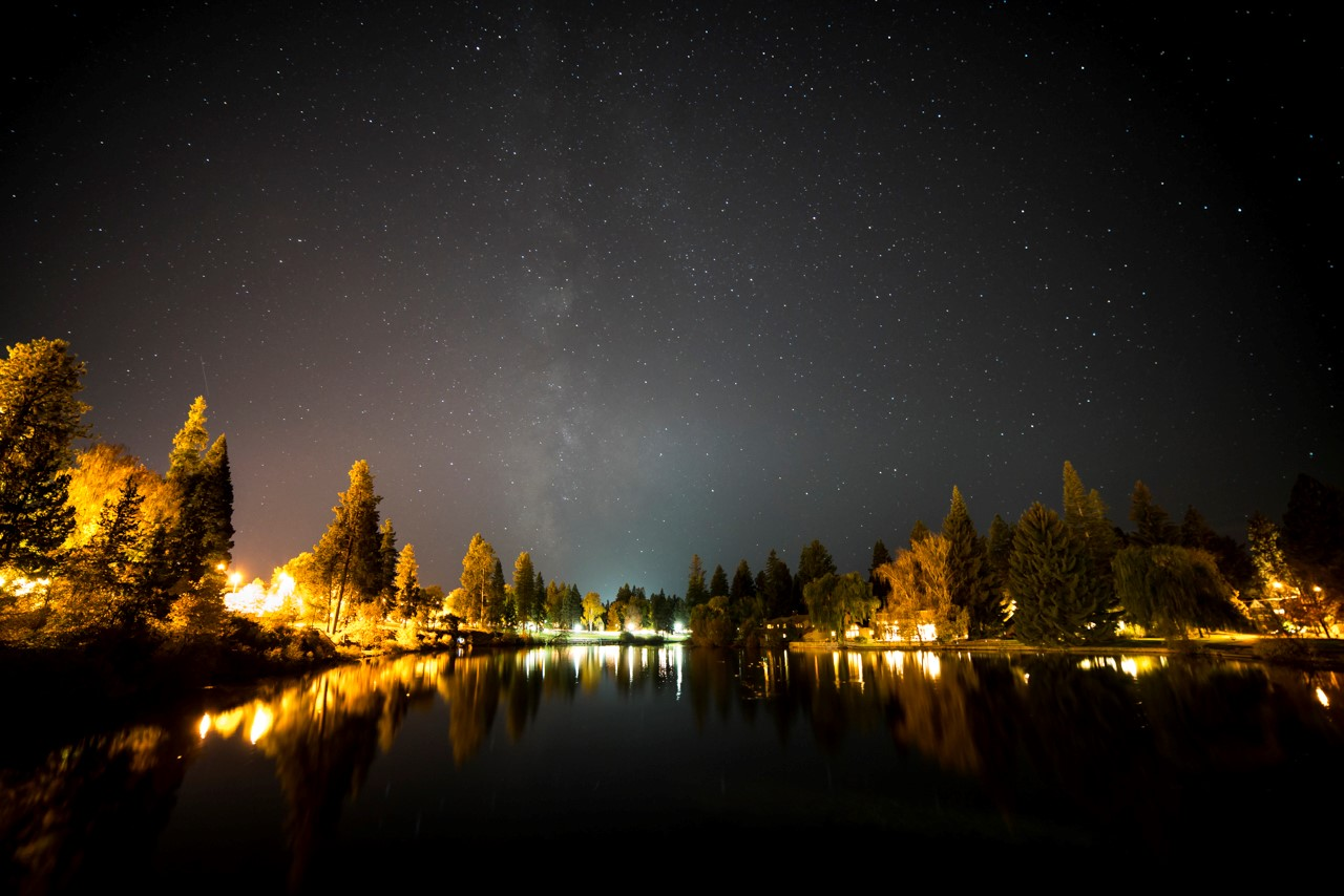 No need to venture far to see stars in Bend. This shot was taken in Drake Park! Photo by Nate Wyeth Photography