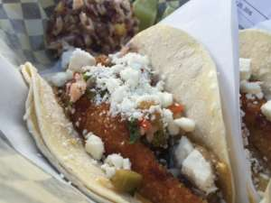 Panko and feta add extra dimensions of crunch and flavor to the fish tacos at Real Food Street Bistro.