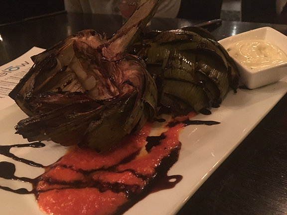 The balsamic grilled artichoke is a new addition to the menu at 10Below and sooooo tasty!
